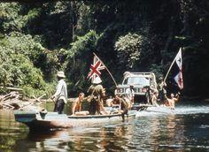 Colonel John Blashford-Snell's Range Rover crossing the Darien Gap, Panama Darien Gap, Adventure Car, Range Rover Classic, Cars Land, Rafting, Kayaking, History, Land Rovers, Party Guests