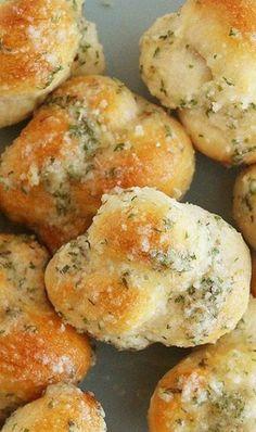 Garlic Parmesan Knots.