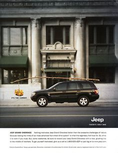 """Jeep Grand Cherokee """"Carrot"""" advertisment. c. 2000"""