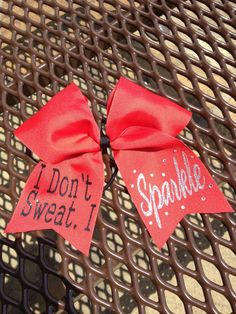 I say this all the time at practice!!! MUST GET!!! Cheer Bow by BowMamaCheerBows on Etsy, $10.00