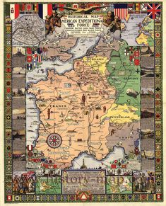 214 best wereldoorlog 1 in kaarten maps of world war 1 images on historical map american expeditionary force showing battle lines base ports communications allied zones and high points of the world conflict gumiabroncs Choice Image