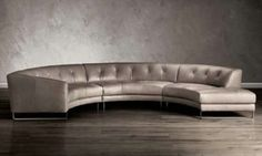 Leather Natuzzi Round Sectional