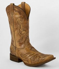 Corral Saddle Cowboy Boot - Men's Shoes   Buckle
