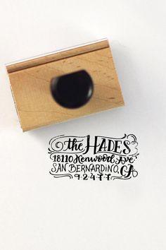 Hand lettered return address stamp - custom stamp - wedding return address stamp - DIY wedding - DESIGN 1 by HowjoyfulShop on Etsy https://www.etsy.com/listing/185348299/hand-lettered-return-address-stamp
