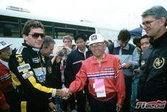 Ayrton Senna and Soichiro Honda / Equipe Lotus Formula 1, F1 Lotus, Soichiro Honda, Grand Prix, Nostalgia, Champion, Racing, Cars, Magic