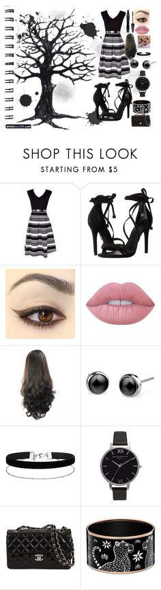 """summer party"" by lissylooloo08 on Polyvore featuring Schutz, Lancôme, Lime Crime, Miss Selfridge and Olivia Burton"