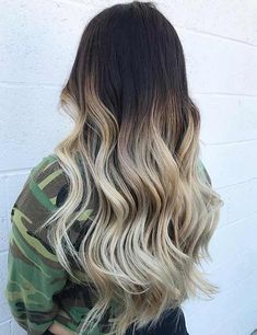 Brown To Blonde Hair Color Ideas - Cool Blonde Ombre Best Hair Dye, Best Ombre Hair, Blond Ombre, Brown Hair With Blonde Highlights, Brown Ombre Hair, Hair Color Highlights, Ombre Hair Color, Light Brown Hair, Brown Hair Dyed Blonde