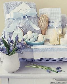 Spa in a Basket How-To