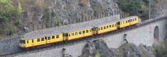 Little yellow train of the Pyrenees