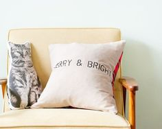 flannel shirt pillow | Simple DIY holiday pillow with thrifted flannel shirt. | Thrifting