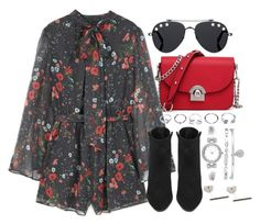 """""""Untitled #3766"""" by theeuropeancloset on Polyvore featuring MANGO, Givenchy, Yves Saint Laurent, GUESS and Anne Klein"""