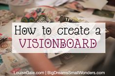 How to create a visionboard, manifest your dreams for the year ahead. Also monthly dreamboard for the new moon and full moon #bigdreamssmallwonders #vision