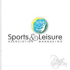 (SLAM) Sports & Leisure Association Mangakino logo Page Design, Graphic Design, Logos, Sports, Hs Sports, Logo, Sport, Visual Communication