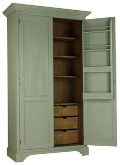 Exceptional Free Standing Kitchen Larder   Iu0027d Use This As A Pantry On One Side And  Vacuum/broom/mop Storage.