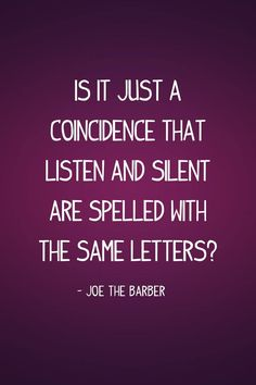 I don't believe in coincidences.