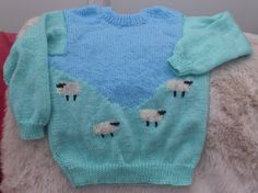"""In machine washable acrylic, this 26"""" / 66cm chest jumper could be yours for £14.50 +postage and handling of £4.50 delivery to mainland UK Message me for further details or to order."""