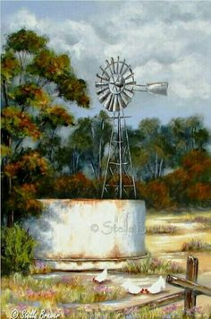 Make Solar Energy Work For You – Solar Energy Advice Windmill Art, Farm Windmill, Old Windmills, Landscape Art, Landscape Paintings, Landscape Photography, Travel Photography, Escudo River Plate, Farm Paintings