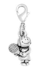 Clayvision School Book Girl Charm Zipper Pull for bracelets and decoration