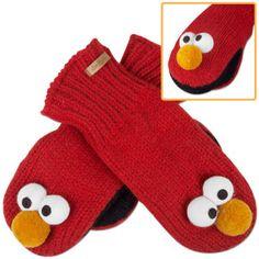 Elmo mittens Kool Kids, Big Bird, Crafty Craft, Learn To Crochet, Selling Online, Elmo, Kids Playing, Mittens, Crafts For Kids