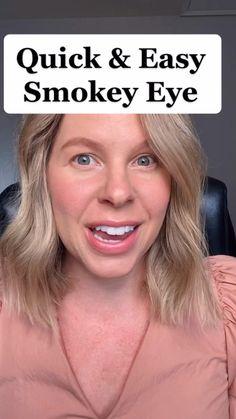 Makeup Hacks Videos, Makeup Tips, Eye Makeup, Makeup Tutorials, Makeup Inspo, Beauty Makeup, Smoky Eye Easy, Smokey Eye, Quick Makeup Routine
