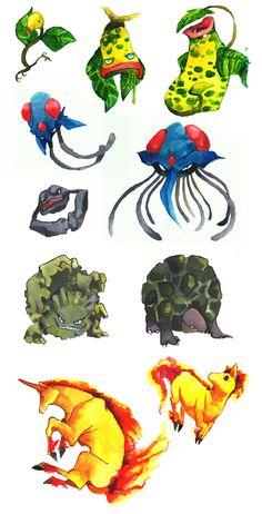 another set of pokemons by evelmiina.deviantart.com on @deviantART