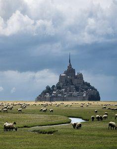 Mont Saint-Michel in Normandy, France (via Danny Vangenechten). - See more at: http://visitheworld.tumblr.com/search/France#sthash.hPX40kOK.dpuf