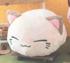 Amazon.com: Nemuneko Super Soft Big Plush 14in. Type-B: Beige: Toys & Games Kawaii Plush, Kawaii Cat, Pusheen Plush, Big Plush, Things I Need To Buy, Cute Pillows, Cat Boarding, Weird Fashion, Anime Outfits