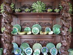 A collection of Portuguese Bordalo Pinheiro pottery at the Quinta da Pacheca wine estate. Artisans of Leisure - Slideshow - Portugal