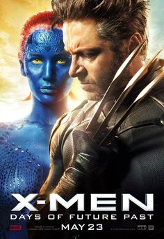 Hugh Jackman and Jennifer Lawrence are Wolverine and Mystique in X-Men: Days of Future Past.