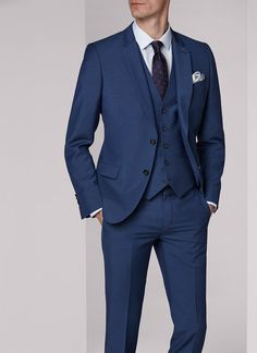 Costume bleu saphir - micro armuré slim 17EC3FOBG-F502 35 - Costume homme De e0c494533c4