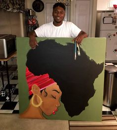 46 Ideas Black Art Painting African Americans Canvases For 2019 Black Art Painting, Black Artwork, Afro Painting, Black Love Art, Black Girl Art, Red Black, African American Art, African Art, Dope Kunst