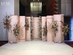 The Best Pink And Green Wedding Ideas – MyPerfectWedding Wedding Backdrop Design, Wedding Hall Decorations, Engagement Decorations, Backdrop Decorations, Pink Green Wedding, Floral Wedding, Wedding Colors, Industrial Wedding, Rustic Wedding