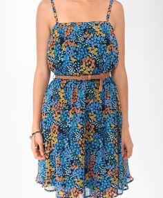 Belted waist-less Dress
