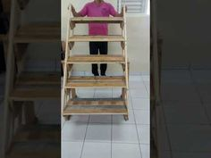 (8) Veja isso vc vai adorar 3x1 Escada,mesa, prateleira - YouTube
