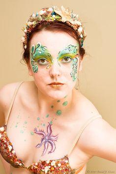 mermaid makeup face paint