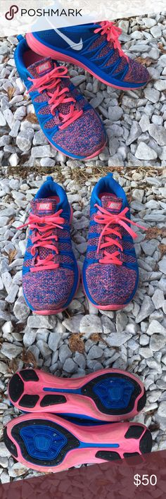 💗💙NIKE FLYKNIT LUNAR 2 8.5💙💗 Preloved condition NIKE FLYKNIT LUNAR 2 in size 8.5 (eur 40) in the colorway pink flash/white/photo blue/brace blue. Still selling on foot locker website brand new for $134.99 brand new! Get them here gently preloved for a great deal! No box. 💗POSH ONLY💗 Nike Shoes Athletic Shoes
