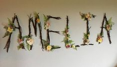 New baby girl nursery themes fairies etsy Ideas Fairy Nursery Theme, Woodland Fairy Nursery, Baby Girl Nursery Themes, Garden Nursery, Girl Nurseries, Rustic Wall Letters, Rustic Walls, Letter Wall, Letter Monogram
