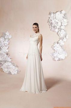 Satin wie Seide Elegante Brautkleider