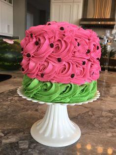 Watermelon cake, Tutti frutti, two-tti frutti, tutti fruity, two-tti fruity Watermelon Birthday Parties, Fruit Party, First Birthday Parties, Birthday Party Themes, First Birthdays, Birthday Ideas, Fruit Birthday, Tutti Frutti, Cute Cakes