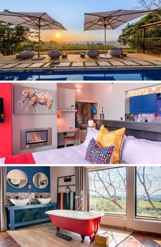 Enjoy the colourful interior of NAD Living with breathtaking views and a tranquil setting ─ will definitely walk away rejuvenated after a getaway here! #Sundaze #WhiteRiver #Mpumalanga