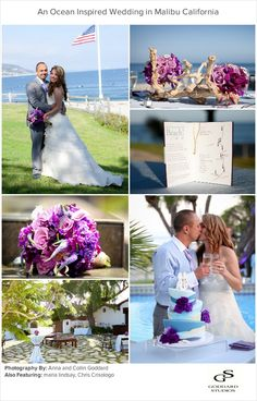 A beautiful Wedding in Malibu, inspired by the ocean.