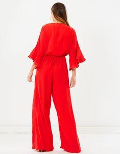 Marta Jumpsuit Wide Leg Pants, Fitness Models, Jumpsuit, Unisex, How To Wear, Fashion, Blouses, Suit, Wide Leg Trousers