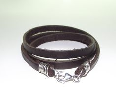 Women's Leather Wrap Bracelet by made793 on Etsy, $28.00