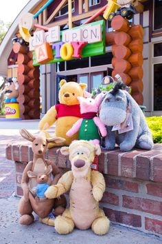 New Christopher Robin plushies include Winnie the Pooh Piglet Eeyore Tigger and Kanga and Roo These cuties are now available at Disney Springs Peluche Winnie The Pooh, Winnie The Pooh Nursery, Winne The Pooh, Cute Winnie The Pooh, Winnie The Pooh Quotes, Winnie The Pooh Friends, Walt Disney, Cute Disney, Disney Magic