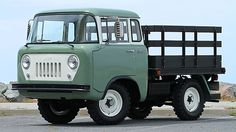 1957 Willys Jeep Stake Bed Truck presented as lot at Monterey, CA 2015 - Jeep Garage, Jeep 4x4, Jeep Truck, Pickup Trucks, Cool Jeeps, Cool Trucks, Mini Trucks, Antique Trucks, Vintage Trucks
