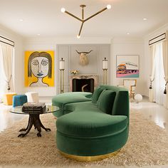 Contemporary Living Room in Los Angeles, CA by Woodson and Rummerfield's House of Design Home Interior, Modern Interior Design, Interior Decorating, Color Interior, French Interior, Modern Interiors, Interior Door, Colorful Interiors, Modern Decor