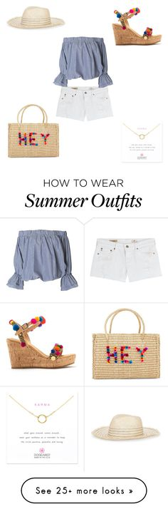 """""""Casual Pom Pom outfit"""" by nubianprincess1999 on Polyvore featuring AG Adriano Goldschmied, Nannacay, Mabu, Tory Burch and Dogeared"""