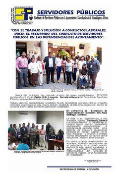 Inicia recorrido por dependencias del Ayuntamiento de Guadalajara.