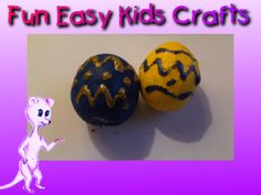 Toddler Easter eggs - made with playdough and decorated with glitter pens.  Enjoy Easter