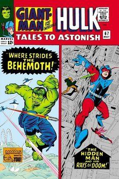 Tales To Astonish FN giant-man & the wasp - hulk by stan lee & steve ditko Hulk Marvel, Avengers, Marvel Comics Superheroes, Hulk Comic, Marvel Comic Books, Comic Books Art, Comic Art, Dc Comics, Silver Age Comics
